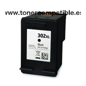 Cartucho de tinta reciclado HP 302 XL / Cartucho Tinta F6U68AE