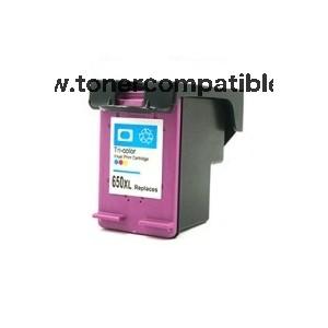 Cartucho tinta reciclado HP 650XL