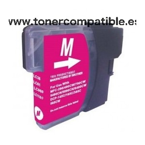 Cartucho BROTHER LC980 / LC1100 magenta 18 ml. Tinta compatible