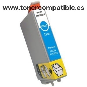 Epson T0592 cyan Tinta compatible C13T05924010