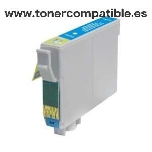 Tinta compatible Epson T0802 Cyan