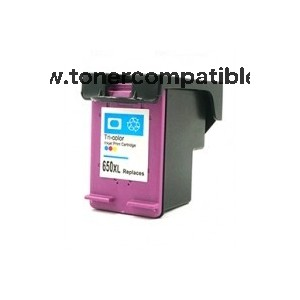 Cartucho tinta reciclado HP 650XL