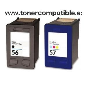 Cartuchos tinta compatibles HP 56 / Tintas compatibles HP 57
