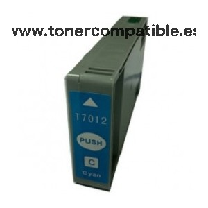 Tinta compatible Epson T7012 Cyan 45 ML