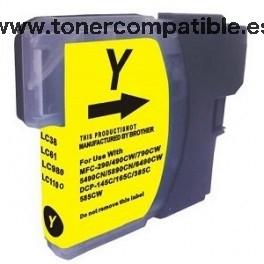 Cartucho BROTHER LC980 / LC1100 amarillo 18 ml. Tinta compatible