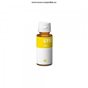 Distribuidor tinta compatible HP GT52 Amarillo