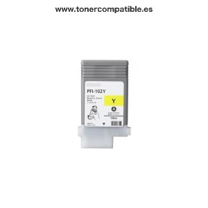 Tinta Canon PFI102 Amarillo / Cartuchos de tinta compatible