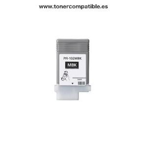 Cartuchos tinta compatible Canon PFI102 Negro Mate / Tintas y toner