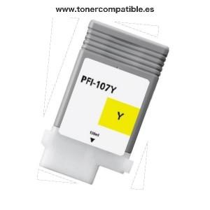 Cartucho de tinta compatible Canon PFI107. Tintas compatibles