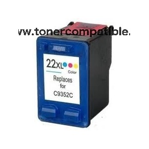 Cartucho de tinta HP 22XL - Color - 18 ML
